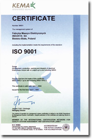 Certificat production ISO 9001 JET France